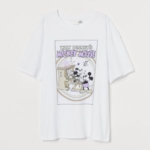 H&M Disney Mickey & Minnie Mouse T Shirt Large